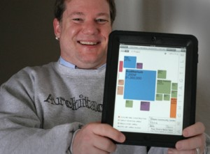 "Photo of Matt Galloway from The Journal Record article ""Tulsa startup creates app for architecture development phase"""